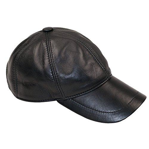 Gorras Dazoriginal Boina Cuero Planas Mujer Béisbol NEGRO Gorra Sombrero Piel Hombre wYqY4r1O