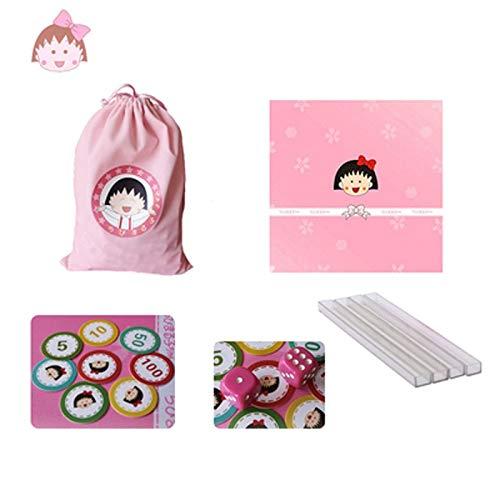 Beautiful girl's shop Simpatico Cartone Animato Cinese Mahjong Studente Dormitorio Tromba Portatile 23mm Mini Mahjong Blu ( Colore   B )