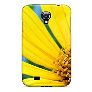 (FrxtBCS5080UtHNQ)durable Protection Case Cover For Galaxy S4(large Yellow Daisy With Bee)