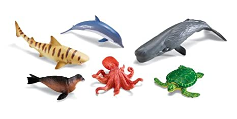 Amazon Com Learning Resources Jumbo Ocean Animals Toys Games