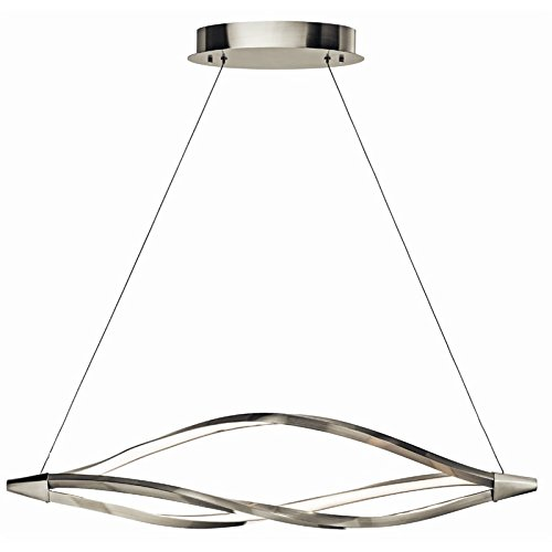 Meridian Pendant Lamp (Elan 83391 3 Light LED 48.8W Meridian Pendant, Brushed Nickel)