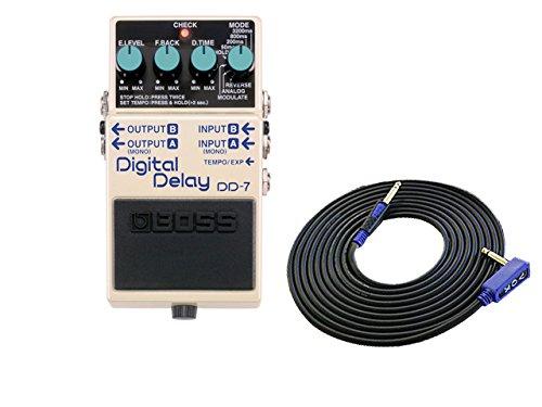 BOSS コンパクトエフェクター Digital Delay DD-7 + 3m ギターケーブル VOX VGS-30 セット B078CR1T28