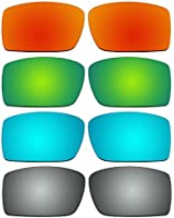 4 Pair Replacement Polarized Lenses for Oakley Gascan Sunglasses Pack P7