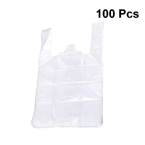 Toyvian bolsas de plástico blancas con manija Bolsa de ...