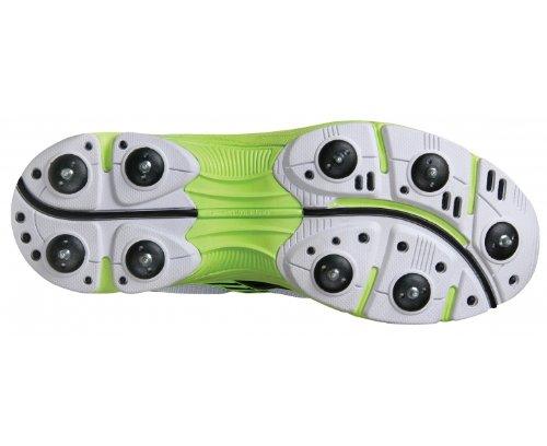 Calzado De Cricket Adulto Gris-nicolls Velocity (spike Sole), Blanco / Negro / Verde, Uk13 Por Gray-nicolls