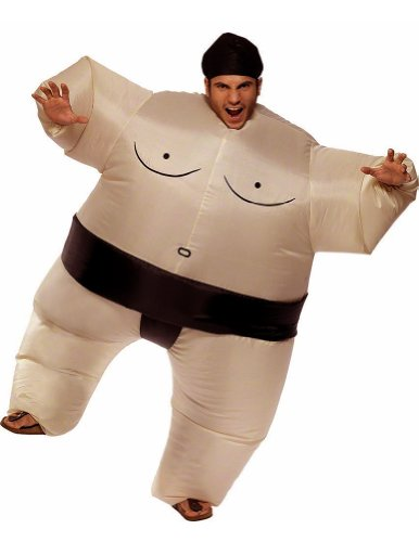 Mens Inflatable Costumes Sumo (SecondSkin Mega Suit Inflatable Zentai)