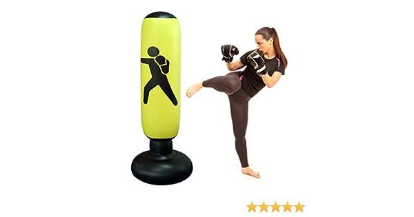 Faviye - Saco de Boxeo Hinchable para niños y Adultos (160 cm)