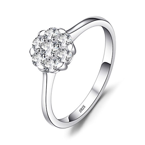 JewelryPalace Womens 0.4ct Cubic Zirconia Ring 925 Sterling Silver