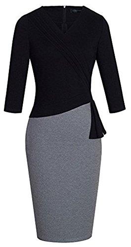 Donne Lavorare Colyanda Affari Fodero Per Rappezzatura Usura Manica Vestito Elegante Da 3 4 BxUTq