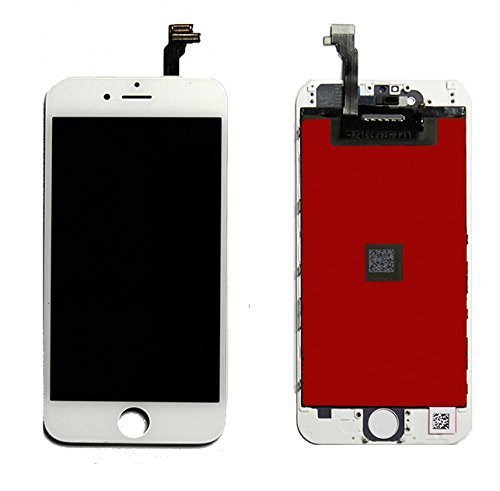 LCD Digitizer Retina LCD Touch Screen Digitizer Glass Replacement Full Assembly LCD Digitizer for iPhone 6 4.7inch (White)