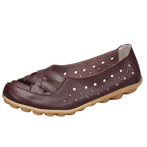 Ons Femmes Plates Pour Mocassins Style Cuir Vogstyle Slip Sandales En coffee 2 Zq8wSnqAxf