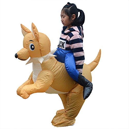 Kids Inflatable Dog Costume Blow Up Fancy Dress Costume Carnival Halloween Christmas Masquerade Party,80-130cm]()