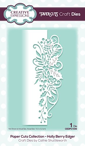 Paper Cuts Collection Holly Berry Edger Craft Die from Creative Expressions