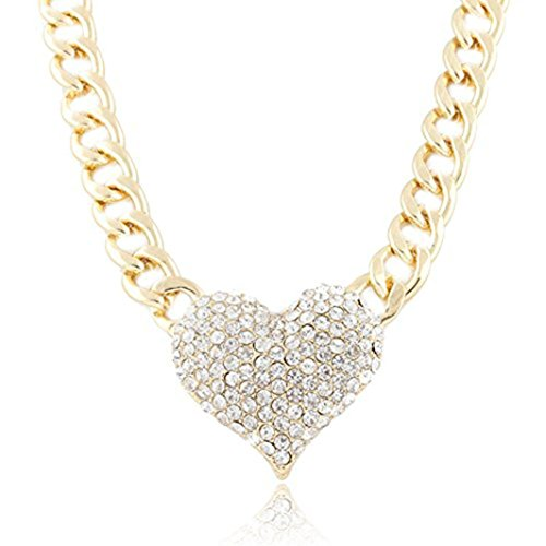 Name 14k Gold Plate - Usstore Women Lady 3D Heart Pendant with a 16 Inch Adjustable Link Chain Necklaces