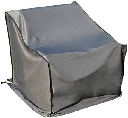 SORARA Funda/Cover/Protectora para Sofá, 86 x 86 x 90-61 cm, Gris   Resistente al Agua Poliéster (UV 50+)   para Exterior Muebles de Jardín, Terraza, ...