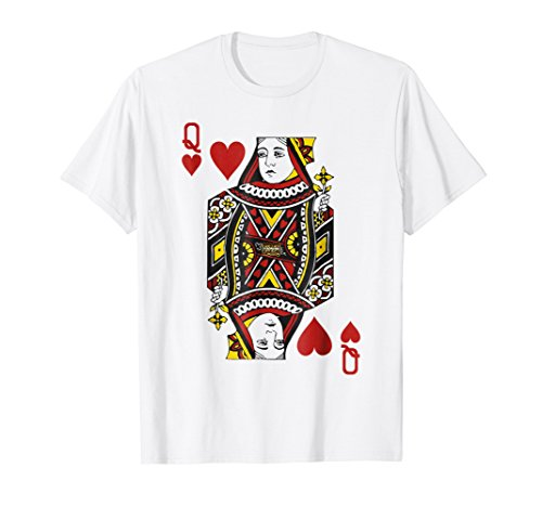 Queen of Hearts Playing Card Poker Card Costume Tee Shirt -