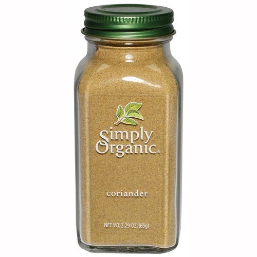 Simply Organic Coriander Seed Ground Certified Organic, 2.29-Ounces Containers  (Pack of 3) by Simply Organic