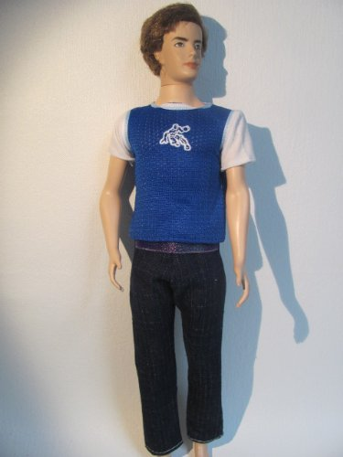 KEN Doll Clothes : 2 Pc Outfit Blue T-shirt and Jeans Fit Ken Dolls, Baby & Kids Zone