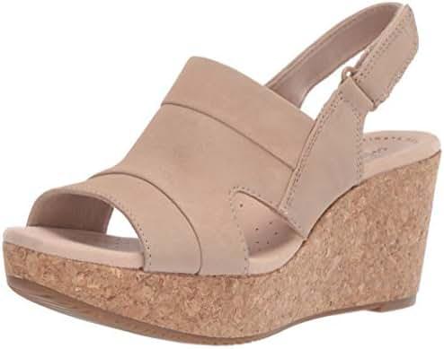 CLARKS Women's Annadel Ivory Wedge Sandal