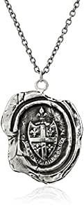 "Pyrrha ""talisman"" Sterling Silver Five Fleur De Lys Crest Necklace"