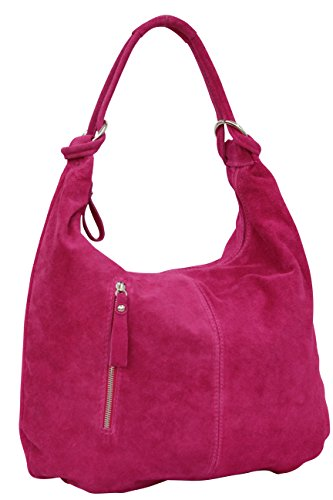 Ambra Leather Satchel Bags Pink Shopper Bag Handbag Wl808 A4 Hobo Moda Women's Suede Din qCwSprq