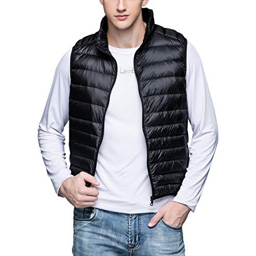 Manteau Doudounes Zippé Manches Veste Vêtements De Noir Duvet Imperméables Hiver Homme Sans Chaud Blouson Gwell Gilet Légèrs Tv5gq