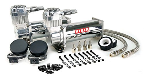 (Viair 444C Chrome Single Compressor Air Ride Suspension 44432)