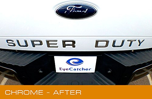 EyeCatcher Tailgate Insert Letters for 2008-2016 Ford Super Duty (Chrome)