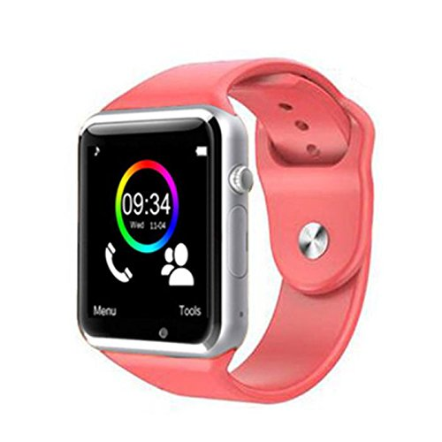 Original A1/W8 Smartwatch Smartwatch Android rojo: Amazon.es ...