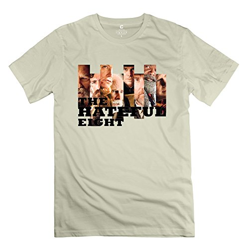Personalized Men's The Hateful Eight Brand New Organic Cotton Tee Size M Natural