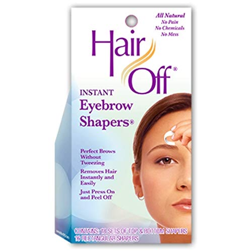 Hair Off Eyebrow Shapers - Hair Off Instant Eyebrow Shapers Cold Wax Strips 18's (Case of 6)