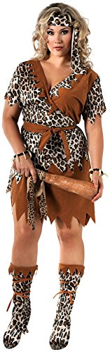 [Rubie's Costume Co Women's Cavewoman Costume, Multi, Plus Size] (Halloween Costumes For The Family)