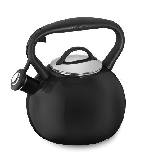 Cuisinart CTK-EOSTRBK Valor Porcelain Enamel on Steel Tea Kettle, Black