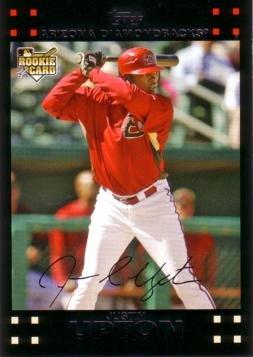 2007 Topps Update Baseball #UH327 Justin Upton Rookie Card