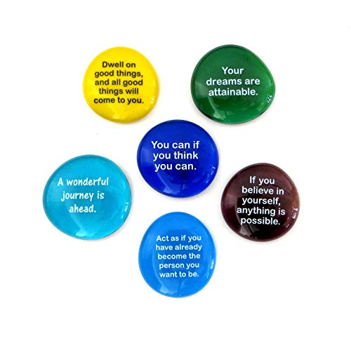 (Lifeforce Glass Destiny Stones I, Create Your Own Future With These Encouraging and Motivational Messages on Glass Stones)