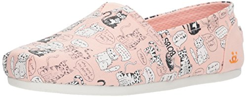 Skechers BOBS Women's Bobs Plush-Cat Attack Flat, Light Pink, 8.5 M US by Skechers