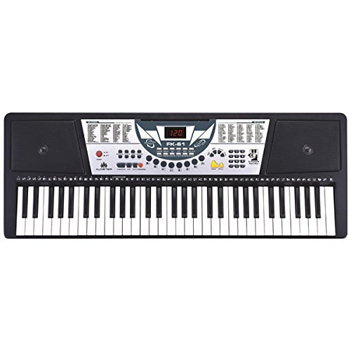 [해외]Audster FK-61 61-Key Professional Digital Keyboard Electronic Piano with LED Display / Audster FK-61, 61-Key Professional Digital Keyboard Electronic Piano with LED Display