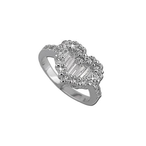 Heart Ring Baguette (Baguette Heart Ring 10)