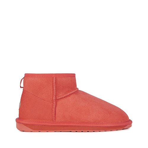 EMU Australia Womens Stinger Micro Winter Real Sheepskin Boots In Burnt Red Size 9 Emu Australia Womens Stinger
