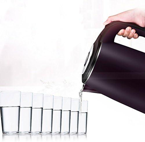 Gwgbxx Bouilloire électrique, bouilloire, acier inoxydable 304, isolé, maison, bouilloire, thé, isolé, bouilloire, mise hors tension automatique, protection anti-sèche