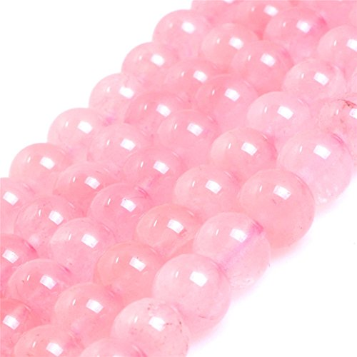 MARIE A FORTUNEL Madagascar Rose Quartz Crystals Gemstone Loose Beads for Jewelery Making 15'' 6mm