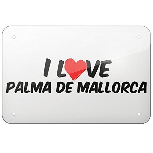 Amazon.com: ACOVE Aluminum Sign I Love Palma De Mallorca ...