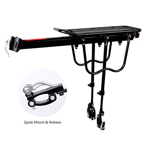 HEALTHLL Bicycle Luggage Carrier Cargo Rear Rack Shelf Cycling Seatpost Bag Holder Stand for 20-29 Inch Bikes with Install Tools Quick Mount