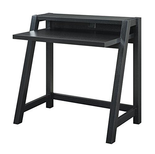 Newport Leather Bench (Convenience Concepts Newport Lilly Desk, Black)