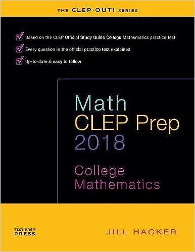 Math clep prep college mathematics jill hacker 9780692843260 math clep prep college mathematics fandeluxe Choice Image