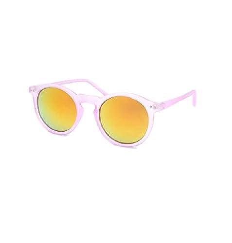 Ducomi® Eyewear En Vogue occhiali da sole unisex dalla forma rotonda alla moda con lenti a specchio ...