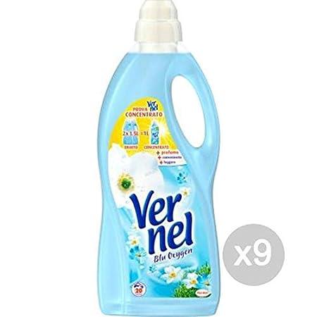 Vernel - Juego de 9 suavizantes para Lavadora, Color Azul, tamaño ...