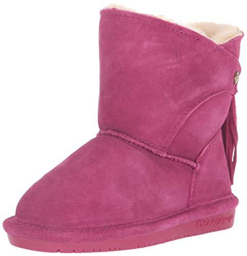 Toddler Sheepskin Boots - BEARPAW Girls' MIA Toddler Fashion Boot, pomberry, 9 M US Little Kid