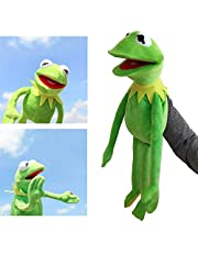 Kermit Frog Puppets Knuffel -SEsamstraat The Muppet Show Doll Kermit the Frog Handpoppen Knuffels Christmas Holiday Gift For Kids 60CM /Groene