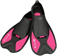 F FYJS Short Swim Fins,Travel Size Diving Flippers with Mesh Carrying Bag for Adult Men Womens
